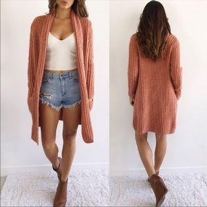 Loft chunky sweater cardigan